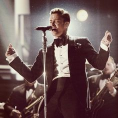 Justin Timberlake .. he continues to evolve which is very cool and a bit unique for musicians these days.