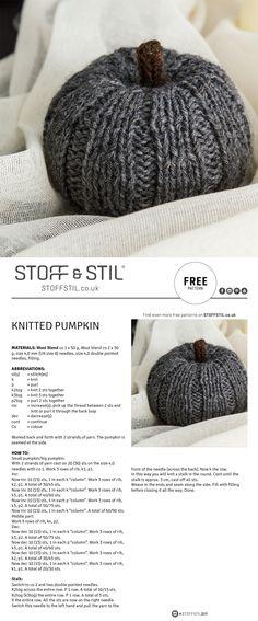 Free pattern for a knitted pumpkin #pumpkin #knitted #halloween