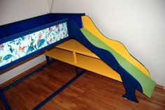 Impressive Kura Bed Hack: with shelves and slide!