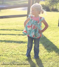 Girls Ruffle Pattern, Flutter Ruffle Sewing Pattern, Big Bow, Swing Top PDF…