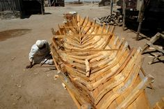 Sudanese Shipyard.  Traditional boat building is alive and well in Sudan