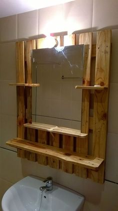 Pallet wood projects diy bathroom 37 New Ideas Diy Pallet Furniture, Diy Pallet Projects, Wood Furniture, Wood Projects, Woodworking Projects, Bathroom Furniture, Woodworking Plans, Furniture Plans, Woodworking Jointer