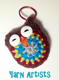Ravelry: Owl Key Chain Pattern pattern by Yarn Artists Crochet Owls, Cute Crochet, Knit Crochet, Crochet Patterns, Owl Keychain, Small Owl, Free Pattern Download, Craft Shop, Gifts For Girls