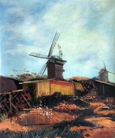 Van Gogh- The Mill of Blute End.  Canvas art and oil painting  reproductions at overstockArt.com