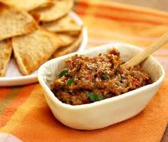 Chunky Eggplant Spread - If you're hosting parties during the holiday, it's nice to have different spreads to top cocktail bread or crackers.