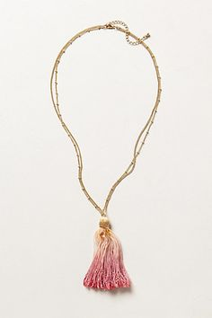 Oct 2013-Dip-Dye Tassel Necklace #anthropologie