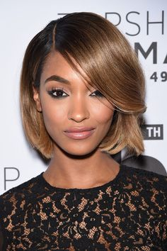 Jourdan Dunn Bob - Hair Lookbook - StyleBistro