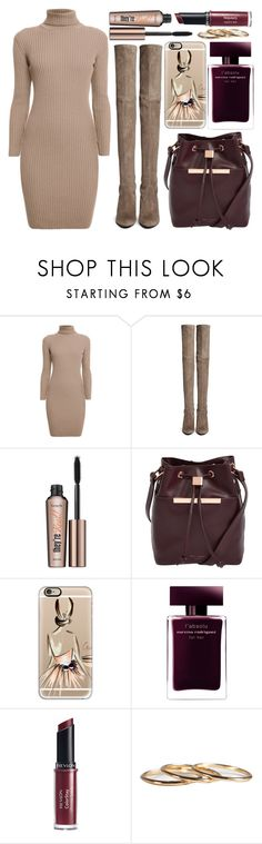 """street style"" by sisaez ❤ liked on Polyvore featuring Rumour London, Stuart Weitzman, Benefit, Ted Baker, Casetify, Narciso Rodriguez and Revlon"