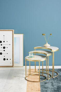 Slide View: 1: Celestial Nesting Side Tables