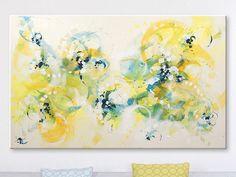 Abstract painting by Svetlansa #svetlansa #homedecor #largepainting #largeart #abstractpainting #art #painting #wallart #artwork #white #yellow #etsy #bestofetsy