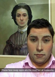 face swap at the museum