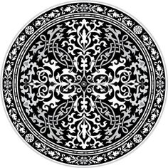 Arabesque Ornate With Flowers Decoration In Editable Vectors ...