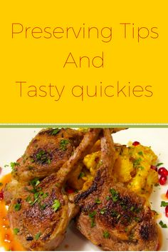 Preserving Tips And Tasty quickies : It can be used as a garnish on grilled or roasted lamb, pork chops, beef, and even roasted potatoes and broccoli. Parsley doesn't dry well, the best way to preserve parsley is to chop it upand freeze it.