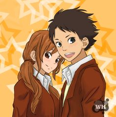 Natsume and Sasahara by WhitedoveHemlock on DeviantArt Shizuku And Haru, Shizuku Mizutani, My Little Monster, Little Monsters, Asako Natsume, Unlikely Friends, Walt Disney Studios, Cute Anime Couples, Sports Art