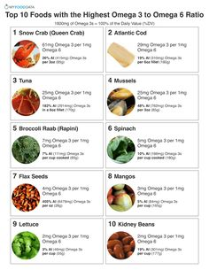 Top 10 Foods with the Highest Omega 3 to Omega 6 Ratio Printable of foods with a high omega 3 to 6 r Omega 3 Foods, Health Tips, Health And Wellness, Gut Health, Flax Seed Benefits, Healthy Life, Healthy Living, Healthy Fats, Brain Food