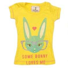 Tailgate some bunny loves me girl tee