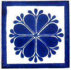 Picture of Mexican Tile Tile Patterns, Textures Patterns, Delft, Frise Art, Spanish Tile, Mexican Designs, Arte Popular, Stencil Painting, Ceramic Art