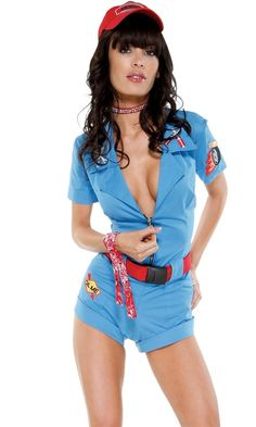 Deluxe Pit Stop Hottie Costume #sexy women costumes #sexy halloween costumes #sexy costumes #race car costume #sexy adult halloween costume #race car driver costume