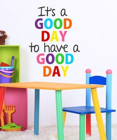Love this 'It's a Good Day' Wall Decal by DecorDesigns on #zulily! #zulilyfinds