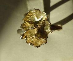 Siersbøl Sterling flower ring , size P- Q