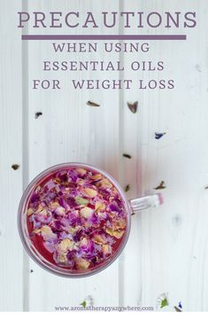 Precautions when using essential oils for weight loss