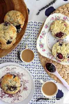 Blackberry Lavender Scones