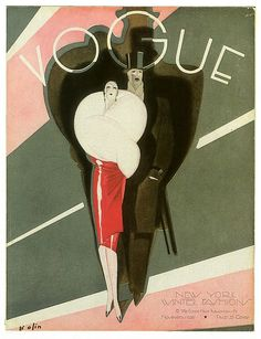 1926 Vogue magazine cover, art credited to Bolin ( #Vogue #fashion #illustration)