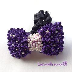 【ご予約済み】リボンのシュシュ☆紫