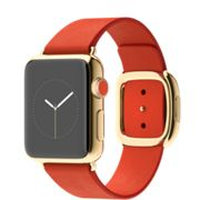 Apple Watch 2015 Edition 38mm Yellow Gold Modern Buckle Bright Red  http://store.apple.com/xc/product/W_15_E38YG_MBRD