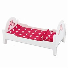 Doll Furniture - Wooden Doll Bed fits 18 Inch and American Girl Dolls * See this great product.