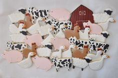 Farm Themed Cookies decorated with Royal icing... www.sweetsbysuz.blogspot.com