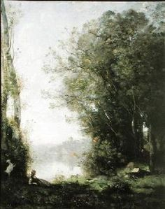 Jean-Baptiste-Camille Corot - The Goatherd beside the Water