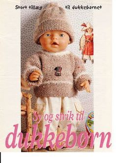 Album Archive - Dukketøj til Baby Born 2 - Ingelise Baby Born Clothes, Preemie Clothes, Knitting Dolls Clothes, Doll Clothes Patterns, Knitted Doll Patterns, Knitted Dolls, Ag Dolls, Reborn Dolls, Baby Knitting