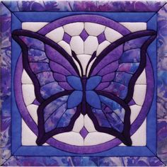 Shop for Butterfly Quilt Magic Kit. QUILT MAGIC INC-Quilt Magic No Sew Wallhanging Kit. Make a unique 'quilted' wallhanging to decorate any room in the house! Butterfly Kit, Glass Butterfly, Butterfly Quilt Pattern, Purple Butterfly, Pattern Fabric, Vintage Butterfly, Quilting Projects, Quilting Designs, Sewing Projects