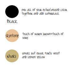 black, skintone, khaki