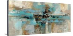 Horizontal living room art of a restful composition of an abstract painting with a layered paint texture. Morning Fjord Wall Art by Silvia Vassileva from Great BIG Canvas. Framed Canvas Prints, Stretched Canvas Prints, Framed Artwork, Canvas Wall Art, Big Canvas, Texture Painting, Painting Prints, Paint Texture, Deco Originale
