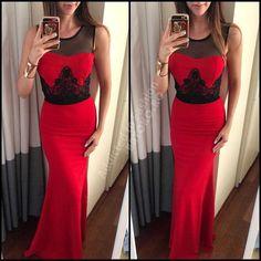Rochie de seara sau ocazie lunga rosie evazata cu broderie neagra Formal Dresses, Fashion, Tulle, Embroidery, Dresses For Formal, Moda, Formal Gowns, Fashion Styles, Formal Dress
