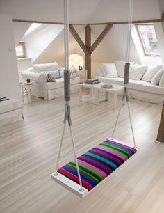 Huśtawka może być przyjemna nie tylko dla dzieci #home #wystroj #aranzacje #mieszkanie #homedesign #design #dom #wystroj #dekoracje