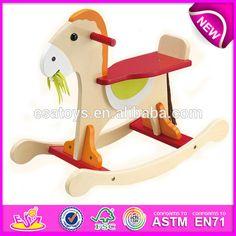 2015 Novo cavalo de balanço de madeira para crianças, cavalinho de pau de madeira popular para crianças, venda quente brinquedo de madeira pau cavalo para o bebê TS0001-imagem-Brinquedos de animais de montar-ID do produto:205443439-portuguese.alibaba.com