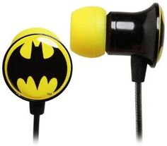 Dc Comics Batman Logo Metal Ear Buds: Amazon.com: Clothing