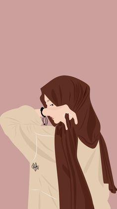 Cartoon Girl Images, Cute Cartoon Drawings, Cartoon Girl Drawing, Cartoon Art Styles, Girl Cartoon, Cute Wallpaper Backgrounds, Cute Cartoon Wallpapers, Cover Wattpad, Islamic Cartoon