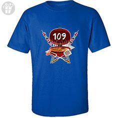 Age 109 Years Old Love To Grill Bbq Birthday - Adult Shirt 4xl Royal - Birthday shirts (*Amazon Partner-Link)