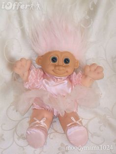 I got one of these as a christening present! 90s Toys, Retro Toys, Childhood Toys, Childhood Memories, Christening Present, Kids Growing Up, Troll Dolls, 80s Kids, Ol Days
