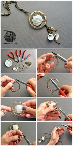 Cómo hacer un collar con conchas | Manualidades                                                                                                                                                                                 Más