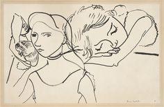 Henri Matisse - Marguerite in Three Poses, 1906