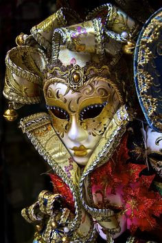 Venetian Masks almost look like REAL people are behind them! by bexpokerry, via Flickr