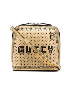 8a7bfa8d4c7b Metallic Gold And Black Gucci Star Print Leather Bag Buy Gucci, Leather  Shoulder Bag,