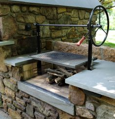 Barbecue with rotisserie; Hertz & Dunn Masonry, Bucks County, PA