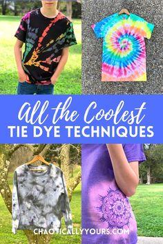 Tie Dye Tutorial, Ice Tie Dye, How To Tie Dye, Diy Tie Dye Designs, Tie Dye Shirt Patterns, Tye Die Patterns, Tie Dye Folding Techniques, Tie Dying Techniques, Reverse Tye Dye