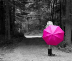 Girl with the Pink Umbrella by Patty Maher, via Flickr